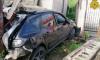 Mazda врезалась в бетонный забор в Калуге