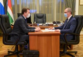 Владислав Шапша провел рабочую встречу с руководством «Калугаэнерго»