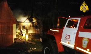 В Калужской области сгорели два дома