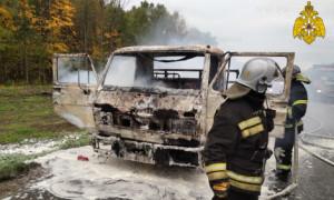 В Жуковском районе сгорела машина