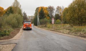 В Бабынинском районе отремонтировали участок дороги на трассе М-3