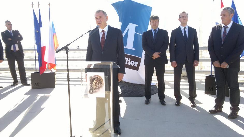 Вофранцузском Монпелье открыли монумент Гагарину